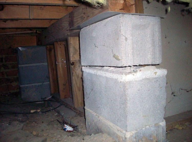 Sinking uneven floor repair in winnipeg brandon for Crawl space floor