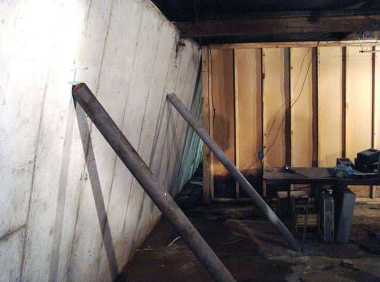 small horizontal crack in basement wall