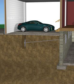 Graphic depiction of a street creep repair in a St Adolphe home